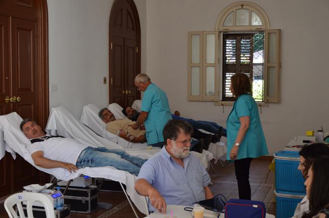 Αιμοδοσία στο Μετόχιο του Αγίου Προκοπίου στη Λευκωσία