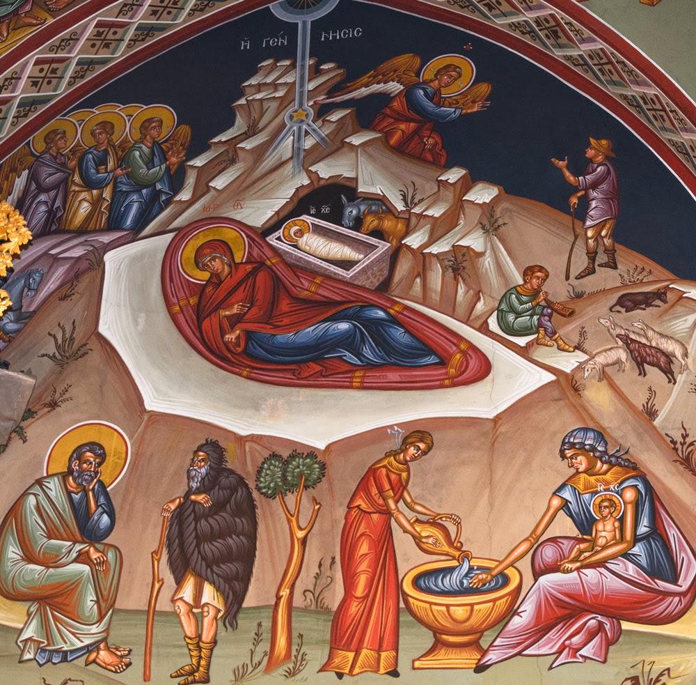 «Η ΓΕΝΝΗΣΙΣ» Τοιχογραφία στο Μετόχι Ιεράς Μονής Κύκκου, Άγιος Προκόπιος